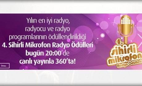 4. Sihirli Mikrofon Radyo Ödülleri 360 TV'de Canlı Yayınlanacak